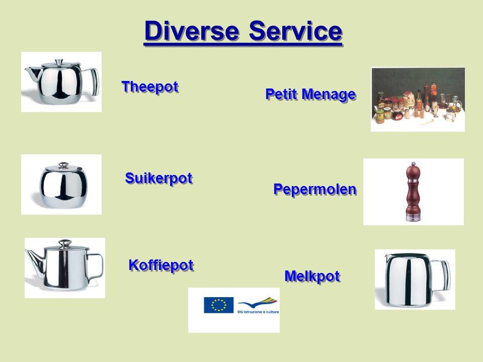 Theepot Suikerpot Koffiepot Melkpot Pepermolen Petit Menage Diverse Service