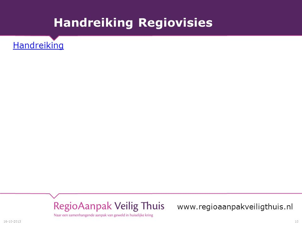 Handreiking Regiovisies Handreiking
