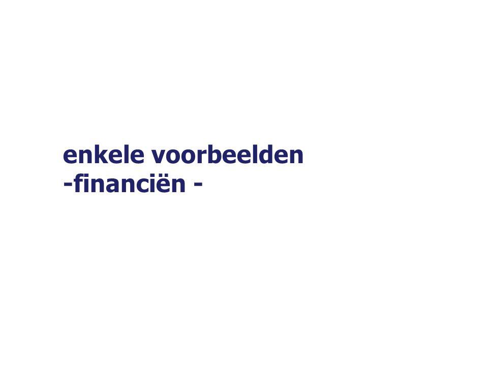 enkele voorbeelden -financiën -