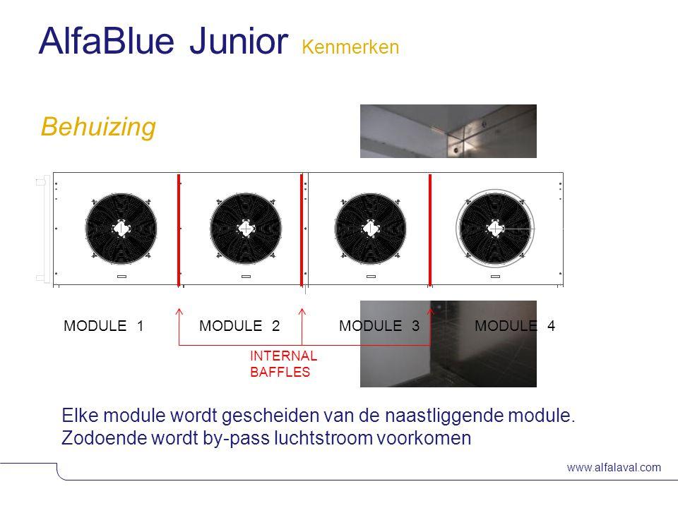 www.alfalaval.com Slide 10 Behuizing Elke module wordt gescheiden van de naastliggende module.