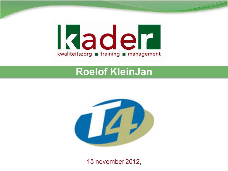 15 november 2012, Roelof KleinJan