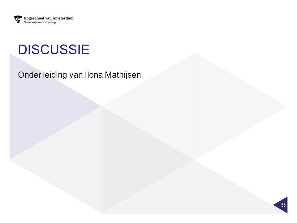 DISCUSSIE Onder leiding van Ilona Mathijsen 55