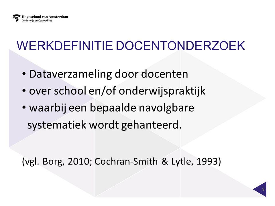 De interventiecyclus (VRIJ NAAR VAN STRIEN, 1986; VERSCHUREN, 2009) 29 Ontwerp Onderzoek Ontwerp Onderzoek Monitoring onderzoek Aanleiding.