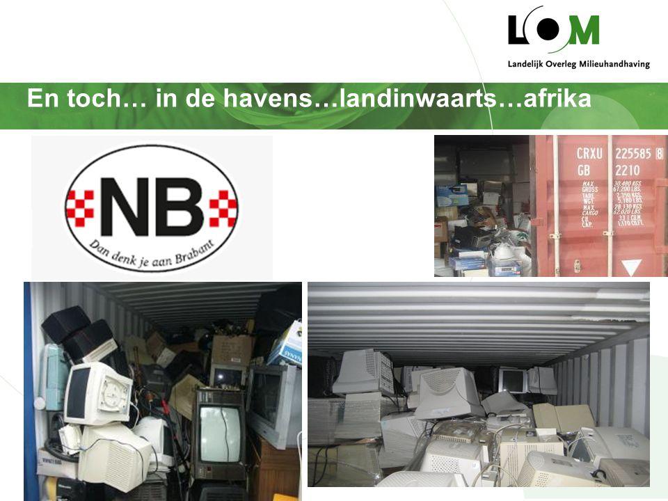 En toch… in de havens…landinwaarts…afrika Inzamelaars / handelaars