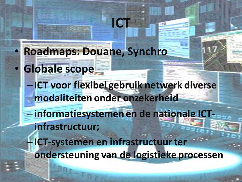 ICT Roadmaps: Douane, Synchro Globale scope – ICT voor flexibel gebruik netwerk diverse modaliteiten onder onzekerheid – informatiesystemen en de nati