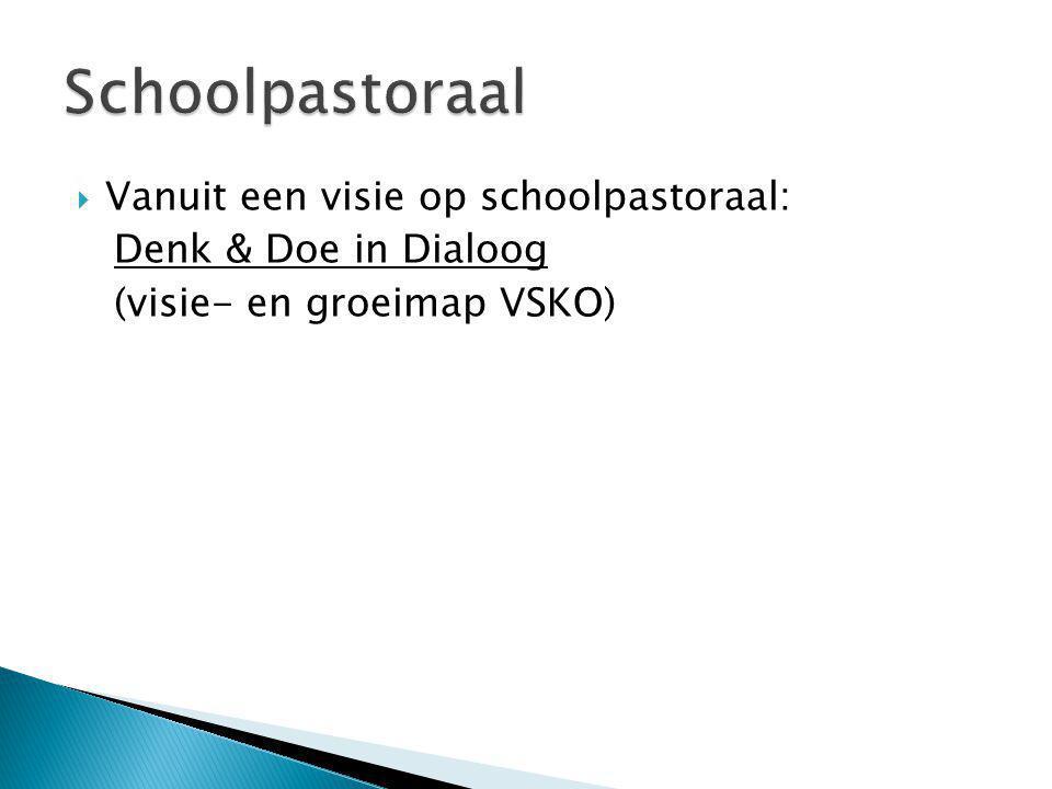  Vanuit een visie op schoolpastoraal: Denk & Doe in Dialoog (visie- en groeimap VSKO)