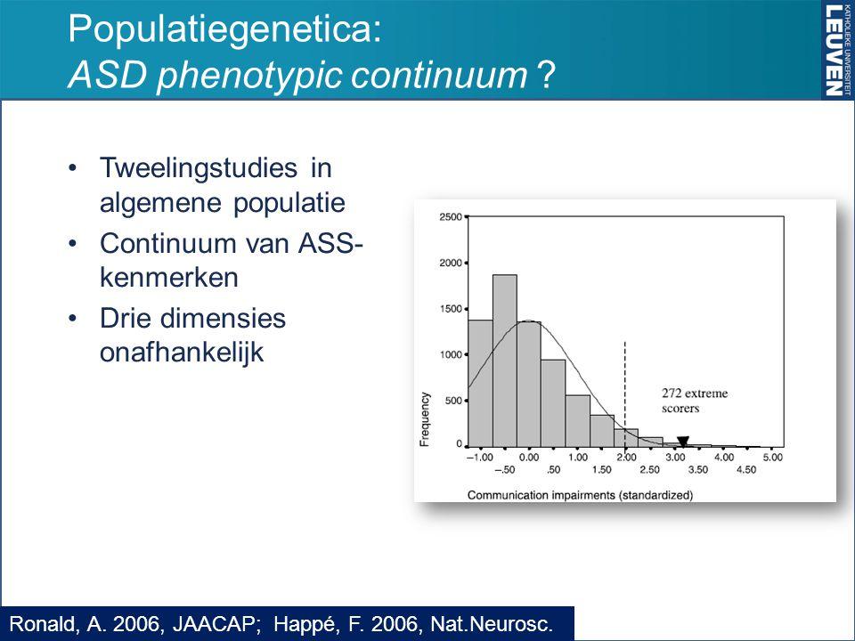 Populatiegenetica: ASD phenotypic continuum .