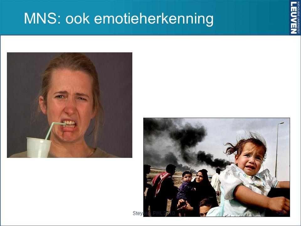 MNS: ook emotieherkenning 39Steyaert PHL 2010