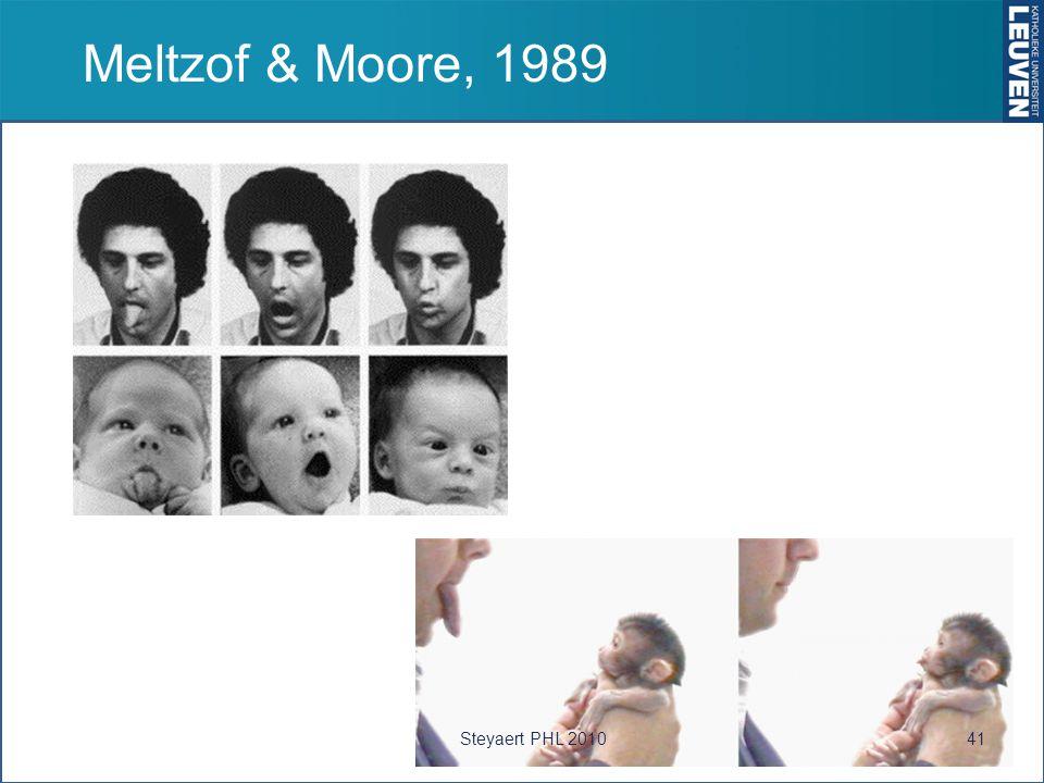 Meltzof & Moore, 1989 41Steyaert PHL 2010
