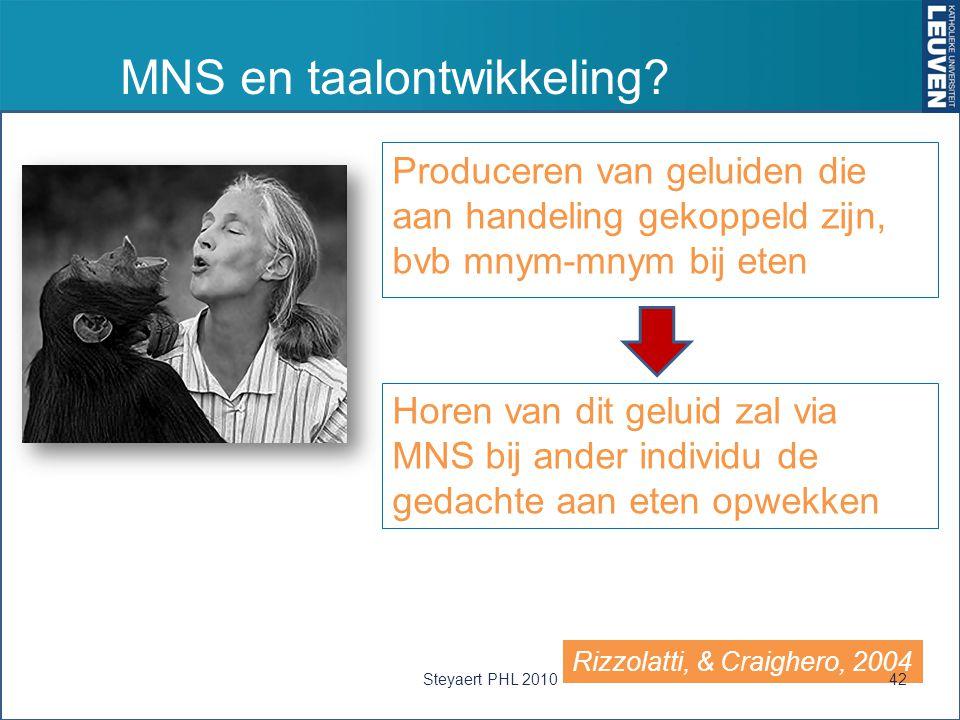 MNS en taalontwikkeling.