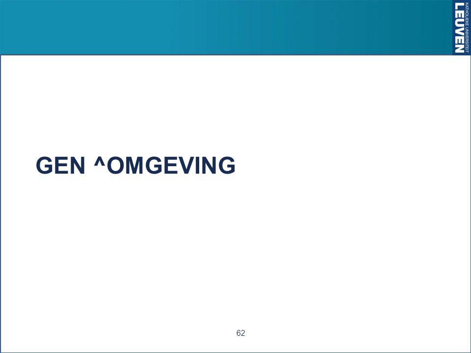 GEN ^OMGEVING 62
