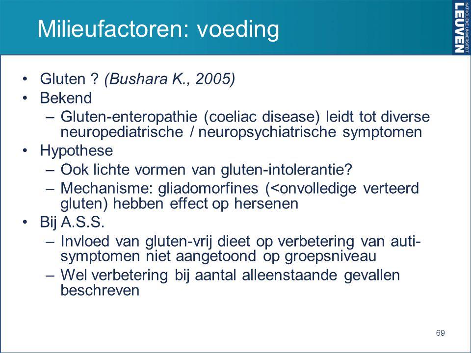 Milieufactoren: voeding Gluten .