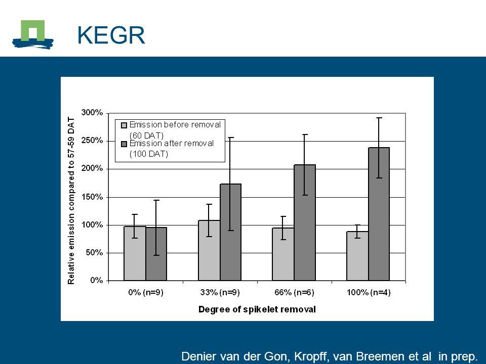 KEGR Denier van der Gon, Kropff, van Breemen et al in prep.
