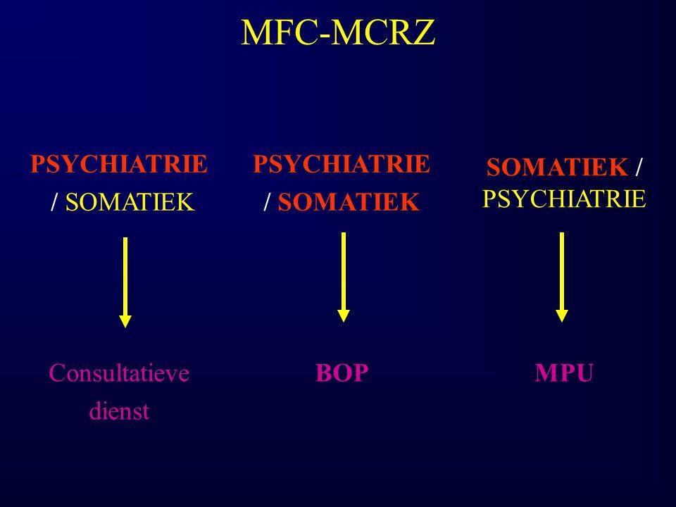 MFC-MCRZ PSYCHIATRIE / SOMATIEK PSYCHIATRIE / SOMATIEK SOMATIEK / PSYCHIATRIE Consultatieve dienst BOPMPU