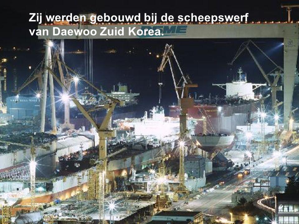 Het zijn ULCC schepen= Ultra Large Crude Carrier die een capaciteit gevven van 442.470 dwt.