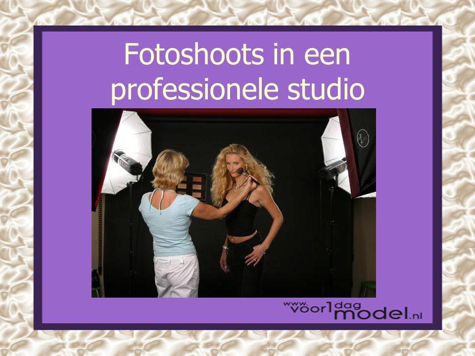 Fotoshoots in een professionele studio