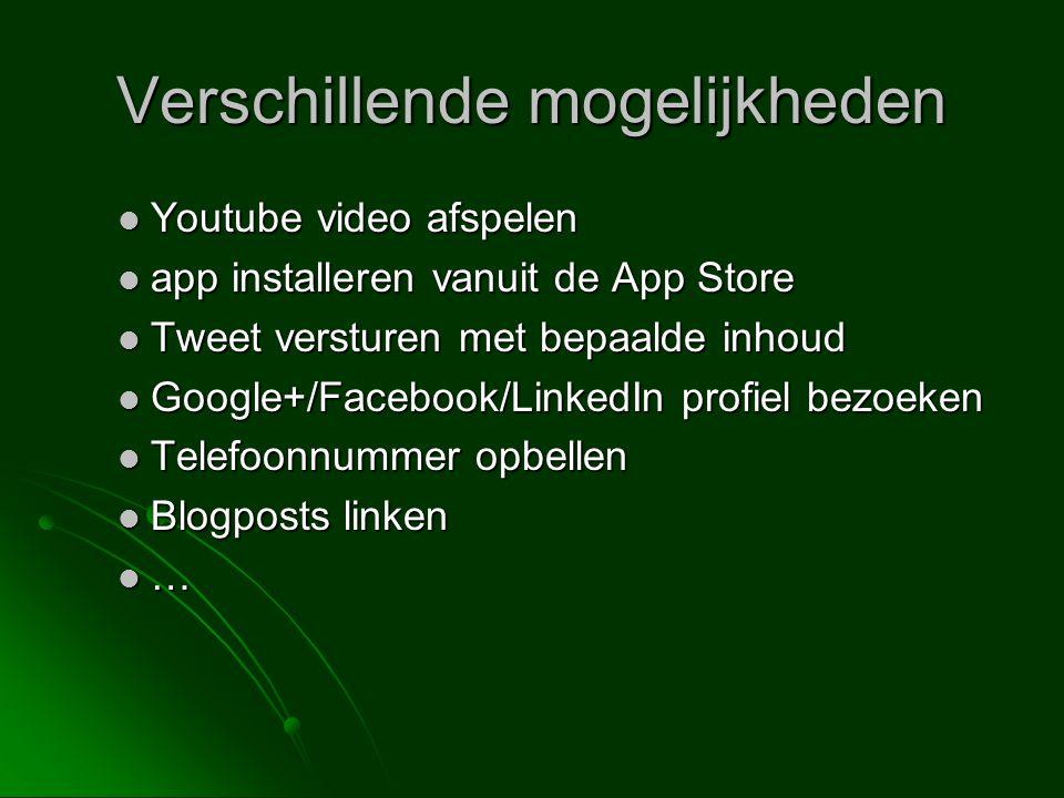 Verschillende mogelijkheden Youtube video afspelen Youtube video afspelen app installeren vanuit de App Store app installeren vanuit de App Store Twee
