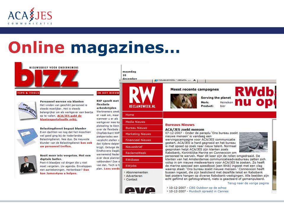 Online magazines…