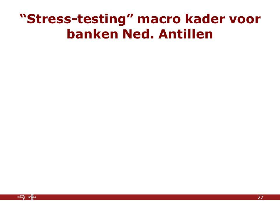 Stress-testing macro kader voor banken Ned. Antillen 27