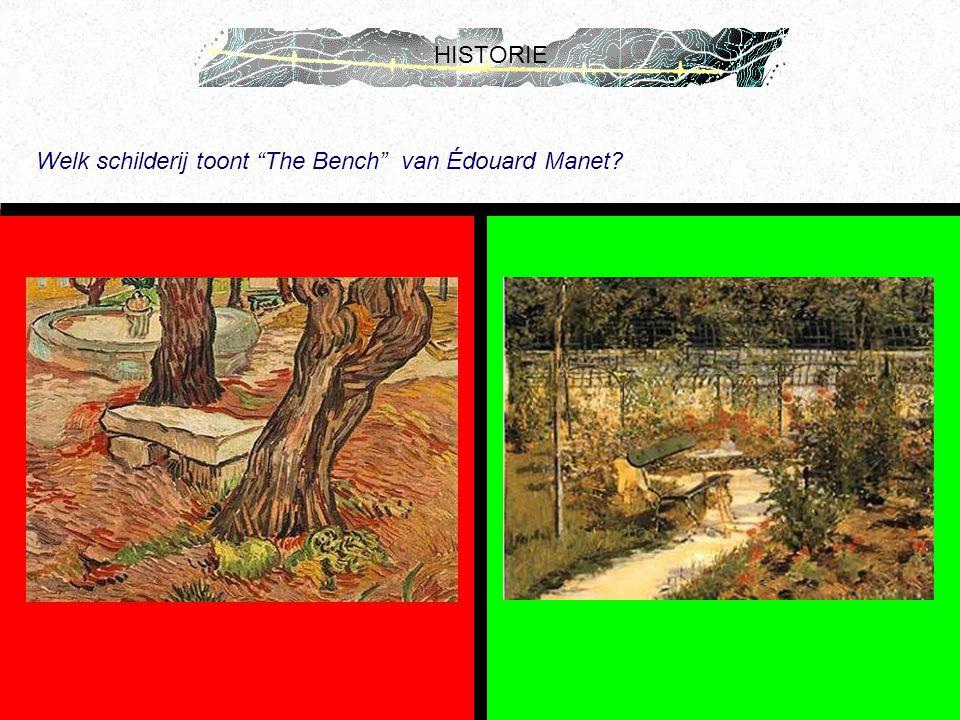 """HISTORIE Welk schilderij toont """"The Bench"""" van Édouard Manet?"""