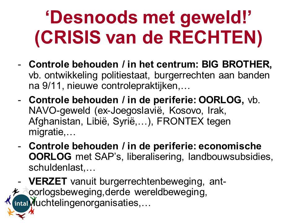 'Desnoods met geweld!' (CRISIS van de RECHTEN) -Controle behouden / in het centrum: BIG BROTHER, vb.