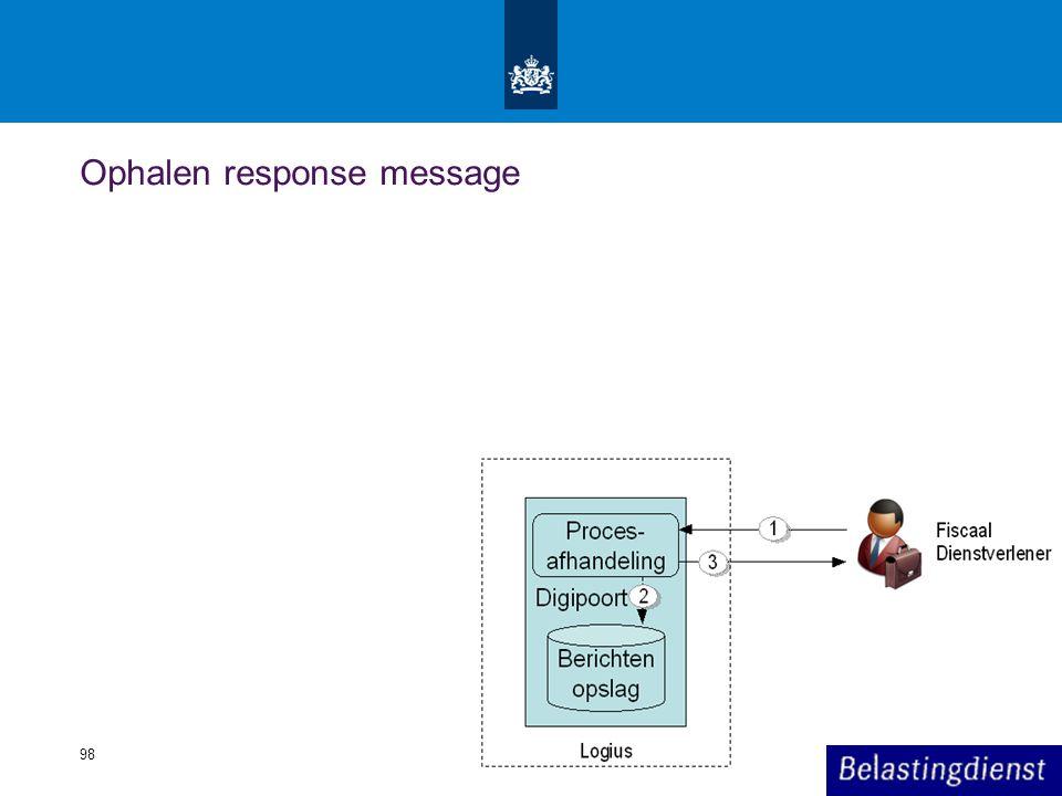 Ophalen response message 98