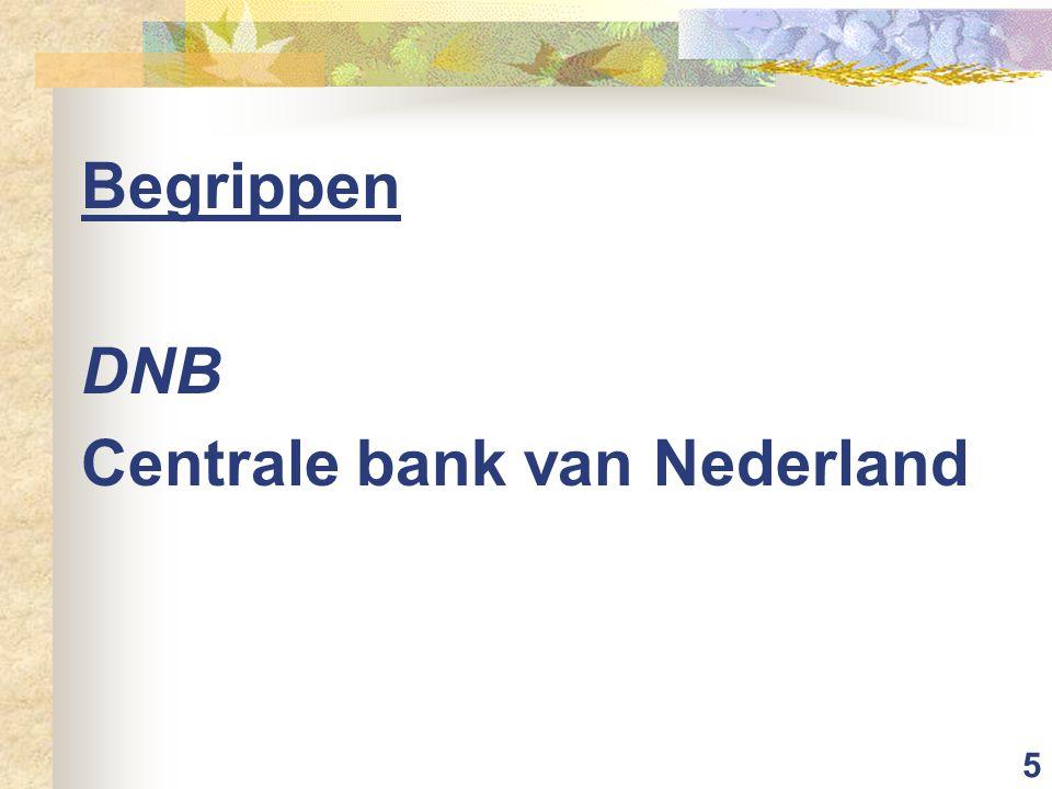 5 Begrippen DNB Centrale bank van Nederland