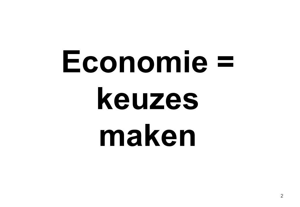 Economie = keuzes maken 2