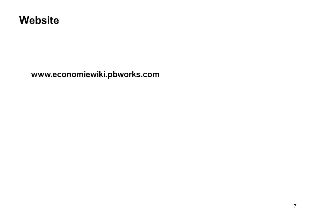 Website 7 www.economiewiki.pbworks.com