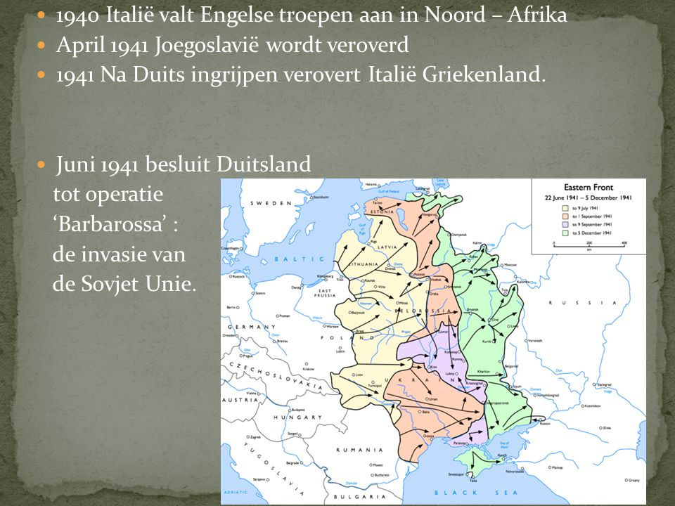 Frankrijk wordt verslagen en Duitsland neemt de volgende stap. Operatie 'zeeleeuw' : de invasie van Engeland. De duitse luchtmacht probeert de engelse