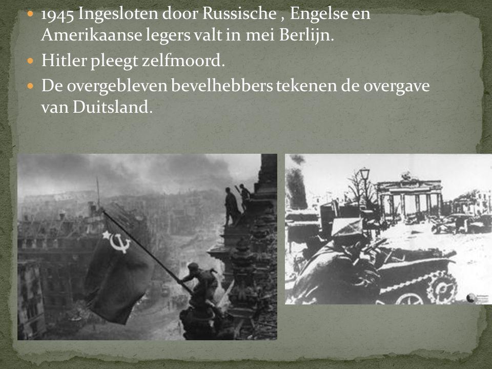 1944 'D-day', de invasie van frankrijk in normandie. Geallieerden rukken op tot de grote rivieren, maar worden in Arnhem in september tot staan gebrac