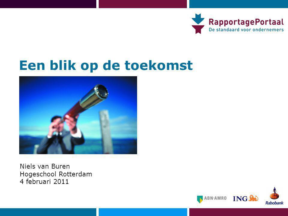 Een blik op de toekomst Niels van Buren Hogeschool Rotterdam 4 februari 2011