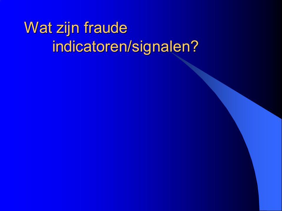 De fraudeur stopt niet Gewenning. Uitgavenpatroon stijgt. Achterstand inlopen. Groei naar andere fraudevelden.