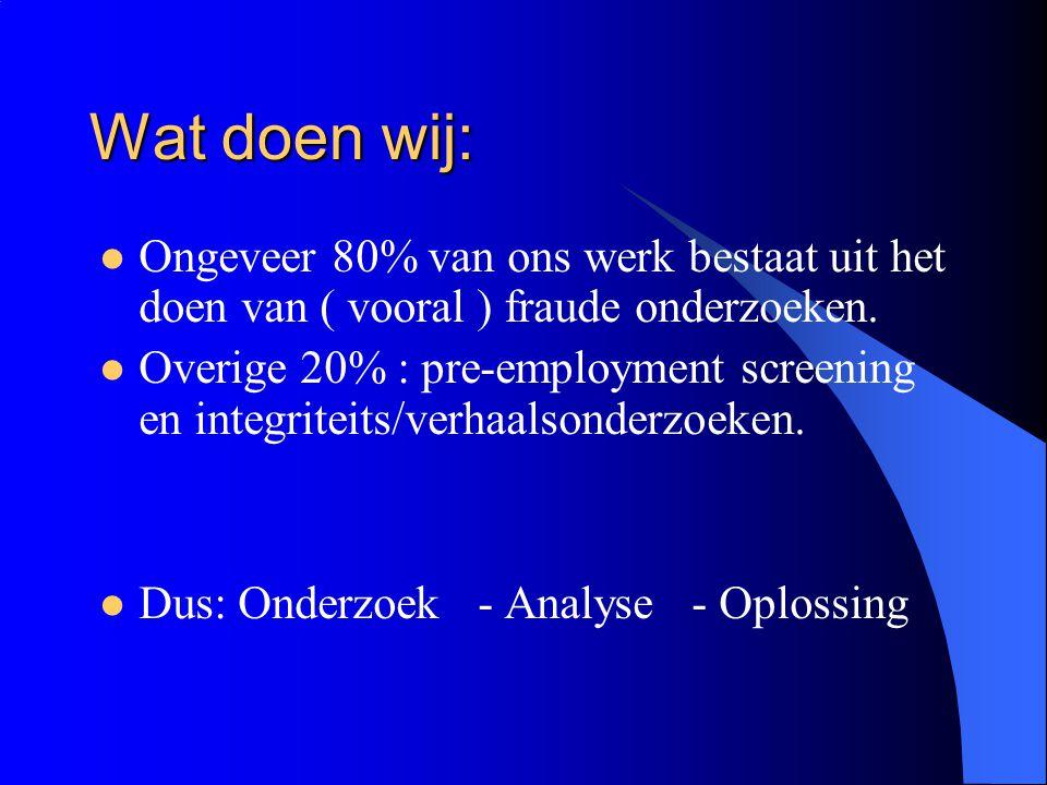 Weer die feiten……… PricewaterhouseCoopers Nederland: Bedrijfsschade op jaarbasis € 2 a 3 miljard.