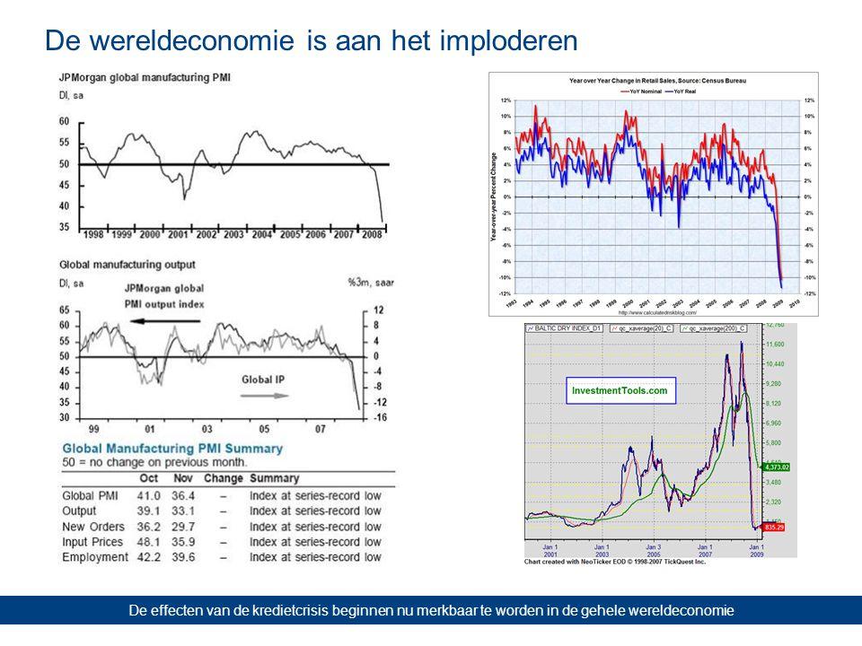 De wereldeconomie is aan het imploderen De effecten van de kredietcrisis beginnen nu merkbaar te worden in de gehele wereldeconomie