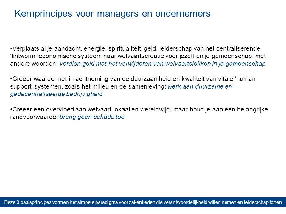 Kernprincipes voor managers en ondernemers Deze 3 basisprincipes vormen het simpele paradigma voor zakenlieden die verantwoordelijkheid willen nemen e