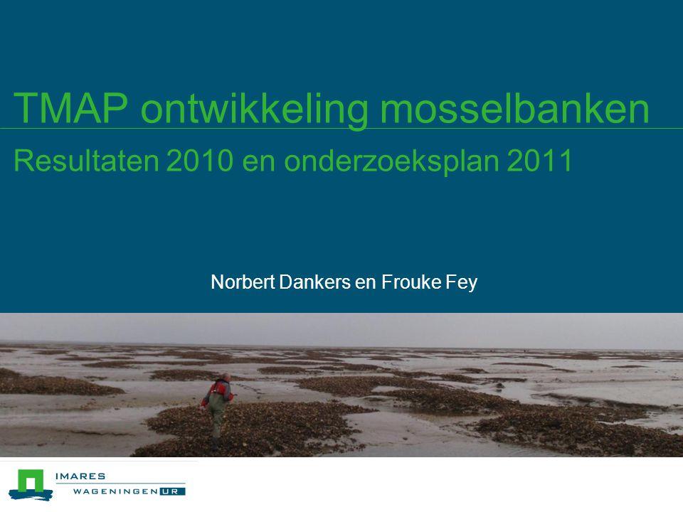 TMAP ontwikkeling mosselbanken Resultaten 2010 en onderzoeksplan 2011 Norbert Dankers en Frouke Fey
