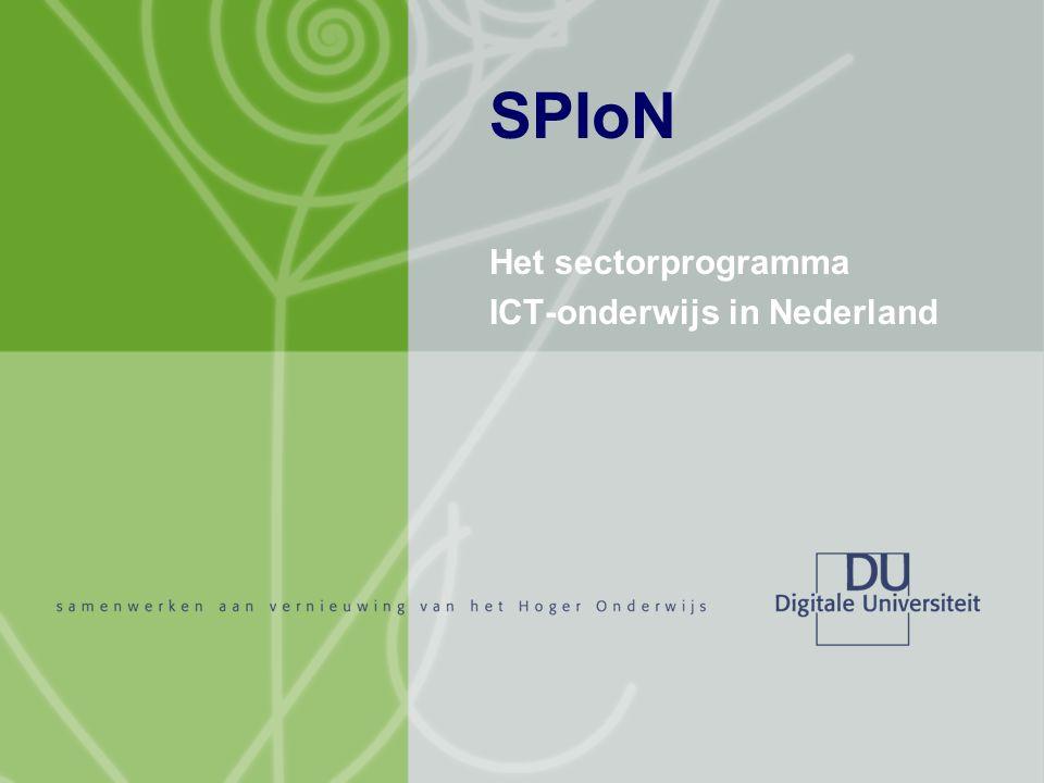 Het sectorprogramma ICT-onderwijs in Nederland SPIoN