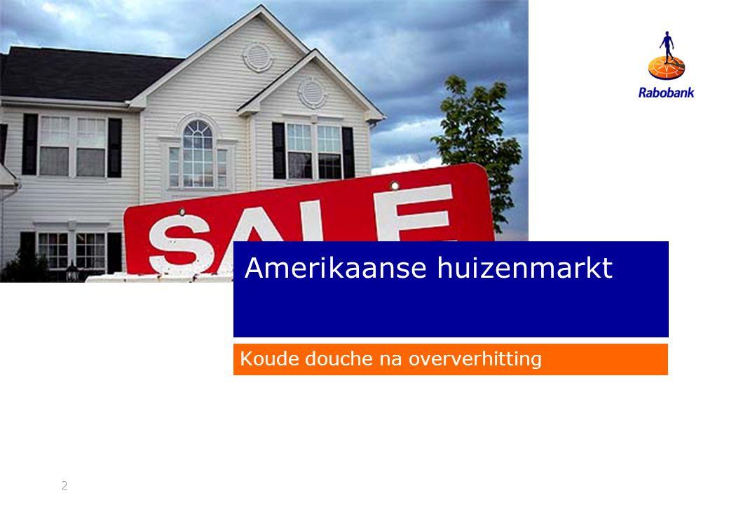 2 Koude douche na oververhitting Amerikaanse huizenmarkt