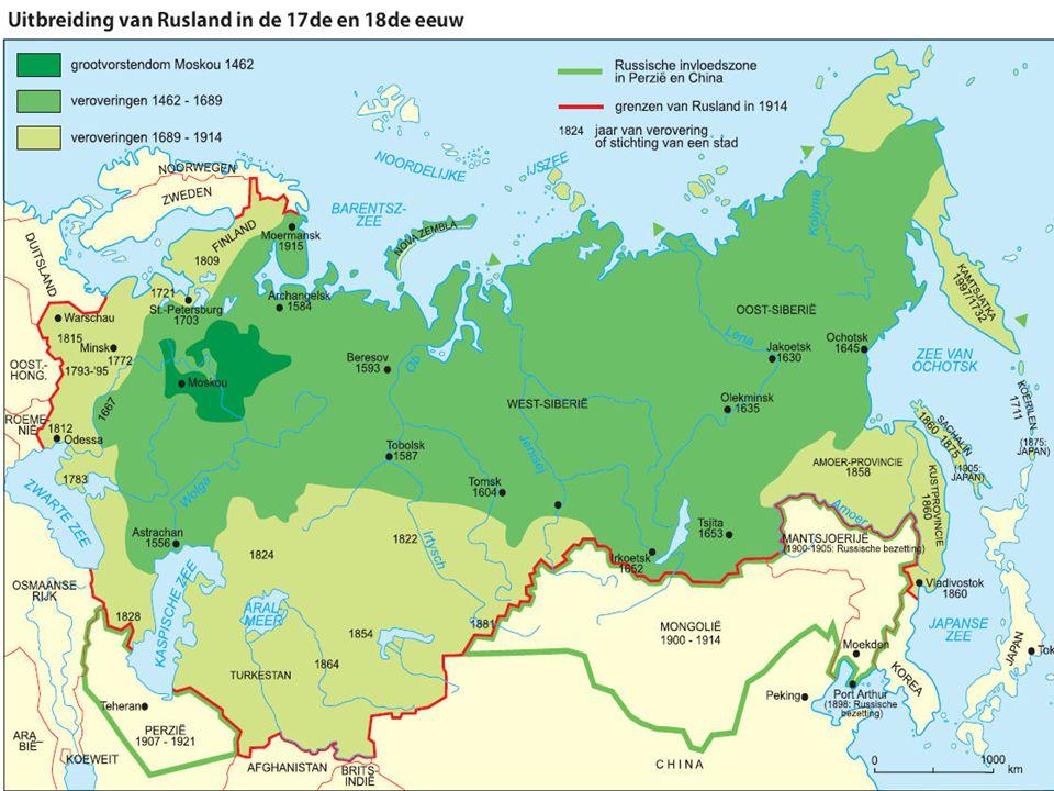Rusland rond 1900 Machtig rijk.Meerdere volken; veel Russen.