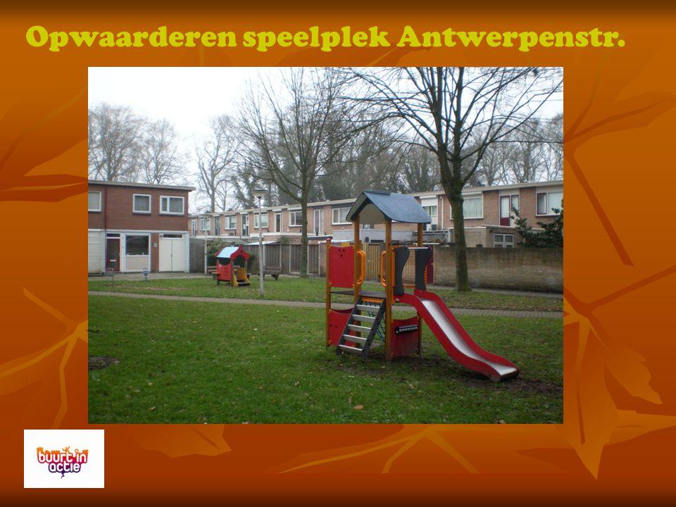 Opwaarderen speelplek Antwerpenstr.