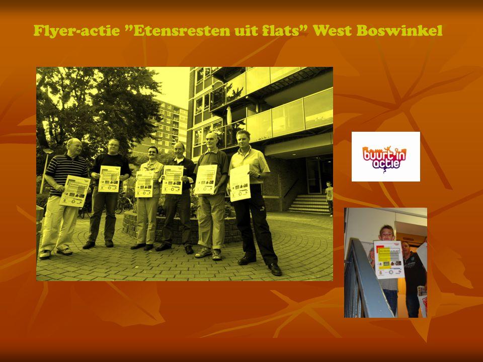 Flyer-actie Etensresten uit flats West Boswinkel