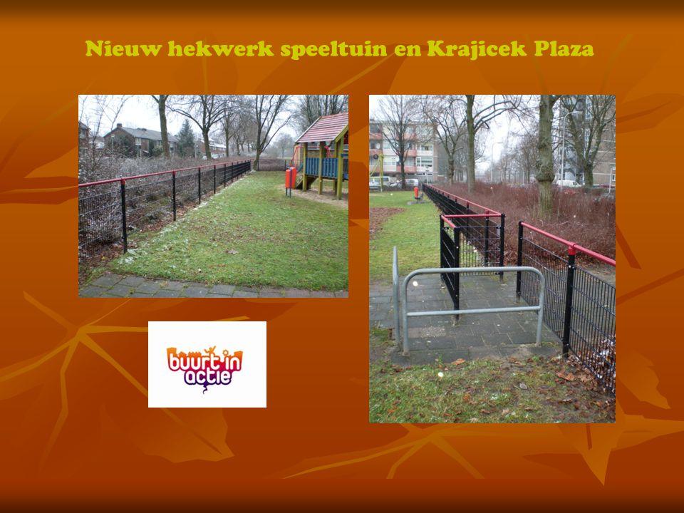Nieuw hekwerk speeltuin en Krajicek Plaza