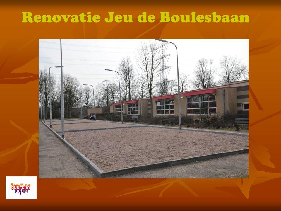 Renovatie Jeu de Boulesbaan