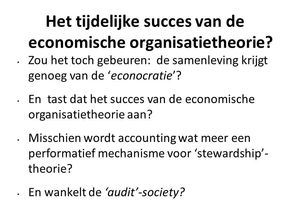 Het tijdelijke succes van de economische organisatietheorie.