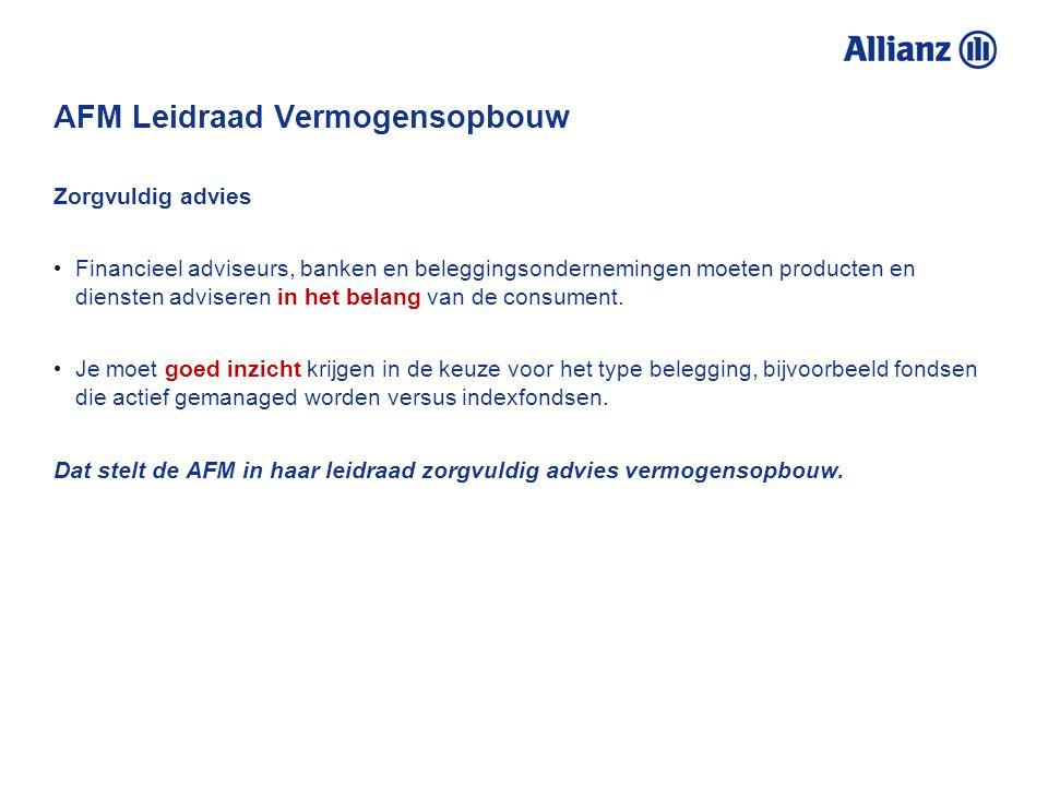 AFM Leidraad Vermogensopbouw AFM Consumentenmonitor 4% van de beleggers met een beleggingsadviseur belegt in indextrackers. Beleggers die niet in inde