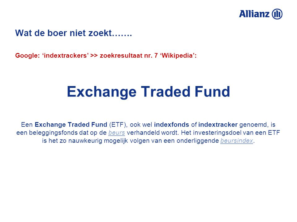 A good ETF is in the eye of the beholder Q: Can you tell me how to find good exchange-traded funds (ETFs).
