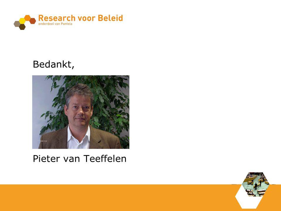Bedankt, Pieter van Teeffelen