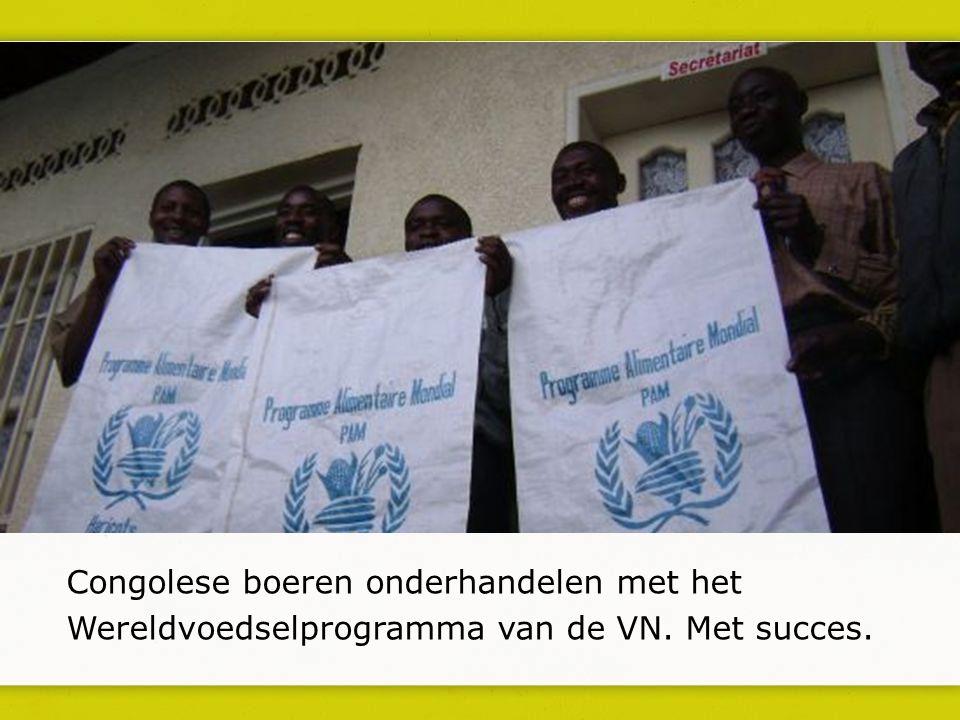 Congolese boeren onderhandelen met het Wereldvoedselprogramma van de VN. Met succes.