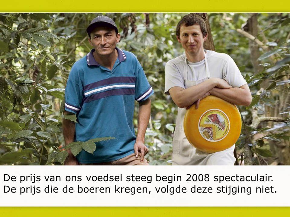 De prijs van ons voedsel steeg begin 2008 spectaculair.